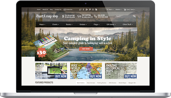 the Chart and Map Shop - web design