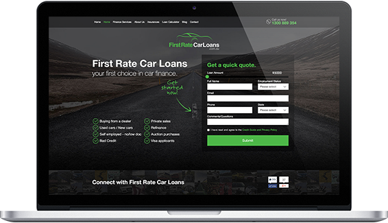 First Rate Car Loans - web design