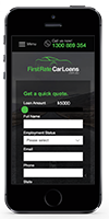 First Rate Car Loans - mobile design