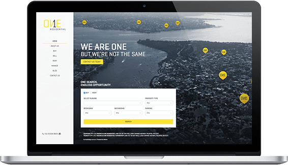 One Residential - web design