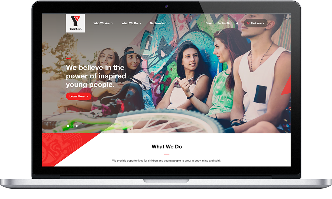 YMCA - web design